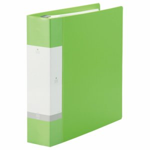 LIHIT G3808-6 リクエスト クリヤーブック ポケット交換タイプ A4縦 30穴 55+1ポケット 背幅65mm 黄緑
