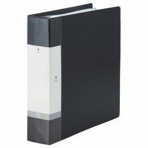 LIHIT G3808-24 リクエスト クリヤーブック ポケット交換タイプ A4縦 30穴 55+1ポケット 背幅65mm 黒