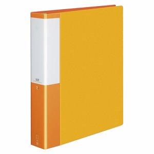 コクヨ P3ラ-L740NYR クリヤーブック(POSITY) 替紙式 A4タテ 30穴 35ポケット付属 背幅53mm オレンジ