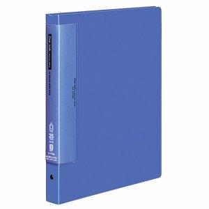 コクヨ ラ-T730B クリヤーブックウェーブカット 替紙式 A4縦 25枚 青