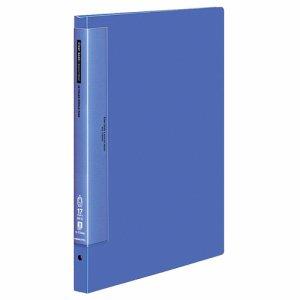 コクヨ ラ-T724B クリヤーブックウェーブカット 替紙式 B4縦  17枚 青