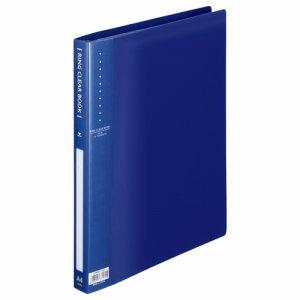 ORBA4-10B リングクリヤーブック A4タテ 30穴 10ポケット付属 背幅25mm ブルー 10冊セット 汎用品