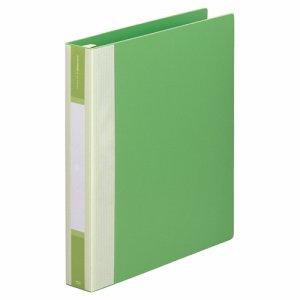 LIHIT G3903-6 リクエスト リフィルバインダーMTL A4タテ 30穴 120枚収容 背幅50mm 黄緑