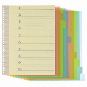 TI-A4-10P インデックス(PP) A4タテ 2・4・30穴 10山1組 1パック 汎用品