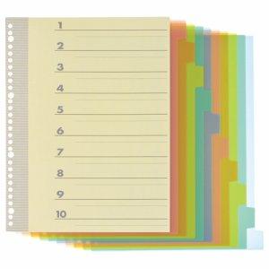 TI-A4-10P インデックス(PP) A4タテ 2・4・30穴 10山1組 20パックセット 汎用品