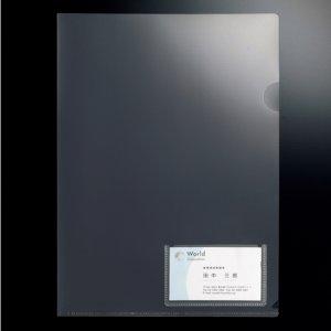 G-Aim YG-10-10 クリアホルダー 名刺ポケット付 A4