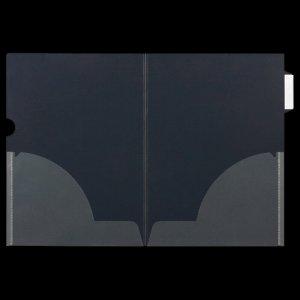 ニックス MS-ICH-WA4 インデックス付クリアホルダー A4(見開きA3) 二つ折サイドインデックス付
