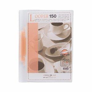 LIHIT F-3016-3 ルーパー150 A4タテ 2穴 150枚収容 赤