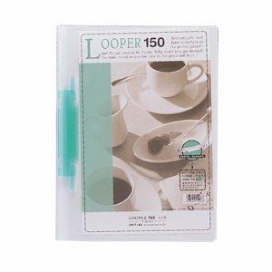LIHIT F-3016-7 ルーパー150 A4タテ 2穴 150枚収容 緑