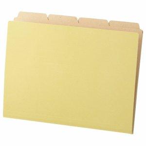TCFA4-SC カットフォルダー4山(クラフト厚紙タイプ) A4 200冊セット 汎用品