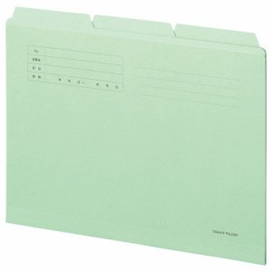OSA4-CF3G カットフォルダー3山 A4 グリーン 30冊セット 汎用品