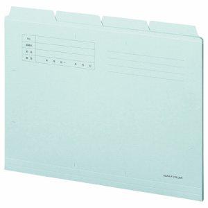 OSA4-CF4B カットフォルダー4山 A4 ブルー 40冊セット 汎用品