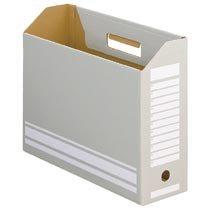 78-102 ボックスファイル A4ヨコ 背幅100mm グレー 10冊パック 汎用品