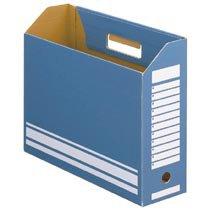 78-101 ボックスファイル A4ヨコ 背幅100mm ブルー 1セット50冊 汎用品