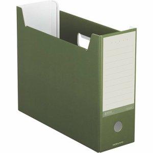 コクヨ A4-NELF-DG ファイルボックス(NEOS) A4ヨコ 背幅102mm オリーブグリーン