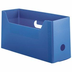 TPYS-A4-BL PP製組立式ボックスファイル A4ヨコ ショートサイズ ブルー 汎用品