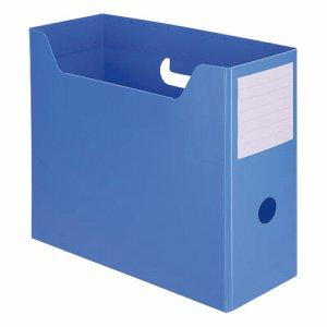 TPY-A4-BL PP製組立式ボックスファイル A4ヨコ ブルー 10個セット 汎用品