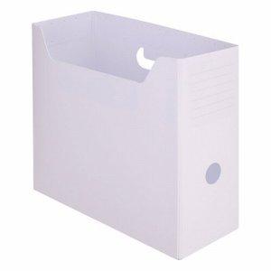 TPY-A4-WH PP製組立式ボックスファイル A4ヨコ ホワイト 10個セット 汎用品