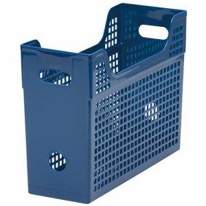 TMBY-BL メッシュボックス A4ヨコ 背幅123mm 青 汎用品