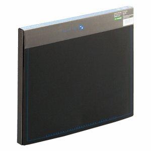 PLUS FL-131CEブル- ケースファイル 再生PP A4 背幅20mm ブラック(背見出し色ブルー)