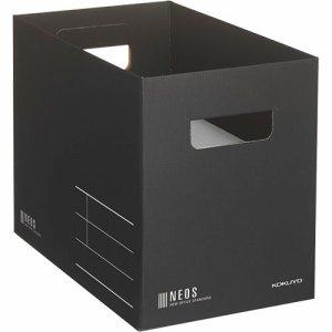コクヨ A4-NEMB-D 収納ボックス(NEOS) Mサイズ ブラック