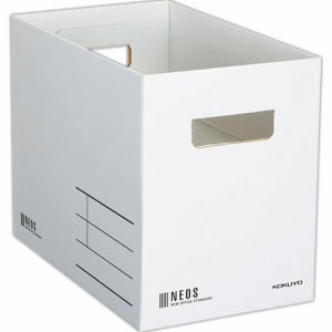 コクヨ A4-NEMB-W 収納ボックス(NEOS) Mサイズ ホワイト