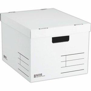コクヨ A4-NELB-W 収納ボックス(NEOS) Lサイズ フタ付キ ホワイト