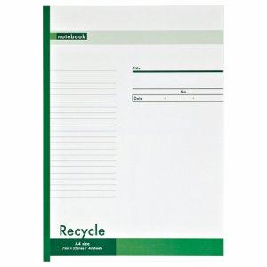 OSF-R204AE ノートブック再生紙 A4 A罫7mm 40枚 汎用品