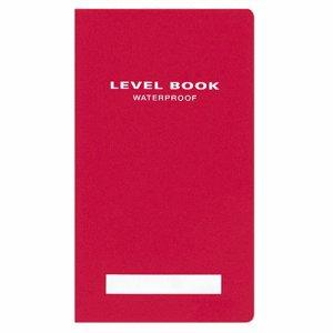 コクヨ セ-Y31R 測量野帳(ブライトカラー) 耐水・PP表紙 レベル 合成紙 30枚 赤 10冊セット