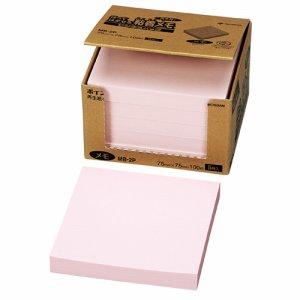 ニチバン MB-2P ポイントメモ 再生紙 ビジネスパック 75×75mm ピンク