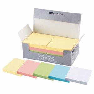 TPK-7575 ポップアップふせん 詰替用 75×75mm 5色 10冊パック 汎用品