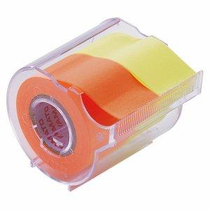 ヤマト NORK-25CH-6C メモック ロールテープ カッター付 25mm幅 レモン&オレンジ