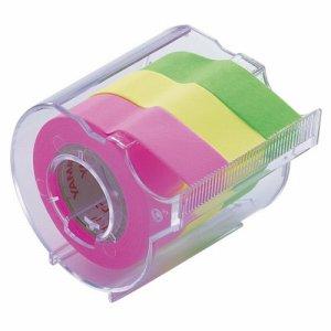 ヤマト RK-15CH-B メモック ロールテープ カッター付 15mm幅 ライム&レモン&ローズ