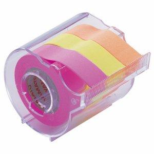 ヤマト RK-15CH-C メモック ロールテープ カッター付 15mm幅 オレンジ&レモン&ローズ