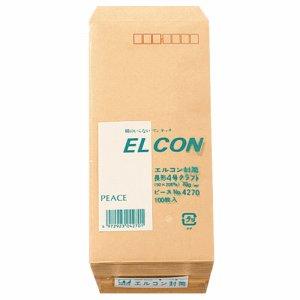 ピース 4270 R40再生紙クラフト封筒 テープのり付 長4 70G /M2 〒枠あり