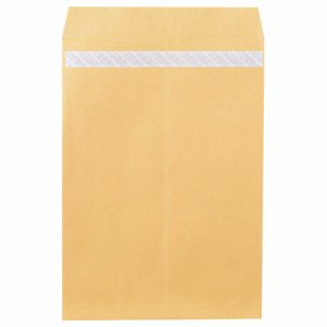 ピース 846 R40再生紙クラフト封筒 テープのり付 角1 85G /M2