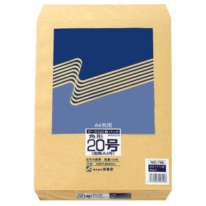 ピース 790 R40再生紙クラフト封筒 角20 85G /M2