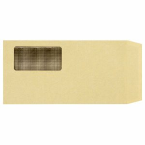 MN3-100TK 窓付封筒 裏地紋付 長3 テープのり付 70G/M2 クラフト(窓:フィルム) 汎用品