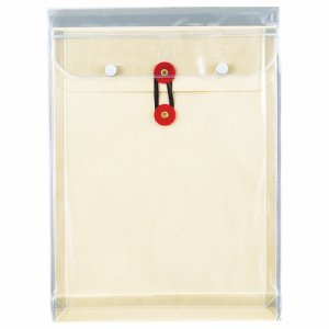 ピース 911-30 マチヒモ付ビニール保存袋 レザック 角2 184G /M2 白 業務用パック