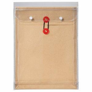 ピース 912-30 マチヒモ付ビニール保存袋 レザック 角2 184G /M2 茶 業務用パック