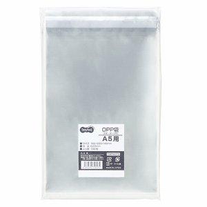 TOP160TS OPP袋 フタ・テープ付 A5用 160×220+40mm 1セット500枚 汎用品