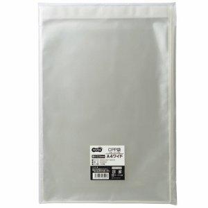 TCPP-A4W CPP袋 A4ワイド用フタ・テープ付 240×330+40mm 1セット500枚 汎用品