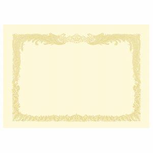ササガワ 10-1167 タカ印 OA賞状用紙 クリーム A4 タテ書用 業務用パック