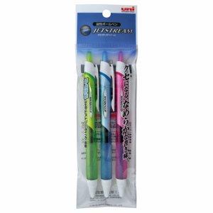 三菱鉛筆 SXN15007.3C 油性ボールペン ジェットストリーム 0.7mm 黒 カラー軸 アソー 1パック3色各1本