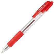 TS-07-CRD ノック式油性ボールペン 0.7mm 赤 (軸色:クリア) 汎用品