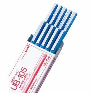 三菱鉛筆 UB105.15 水性ボールペン ユニボール 0.5mm 赤 1セット10本