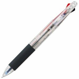 16-8305202 油性3色ボールペン 0.7mm (軸色 クリア) 汎用品