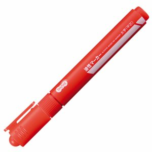 TS-CSBA-1R キャップ式油性マーカー シングル 太字 赤 1セット(10本) 汎用品