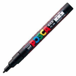 三菱鉛筆 PC3M.24 水性マーカー ポスカ 細字丸芯 黒