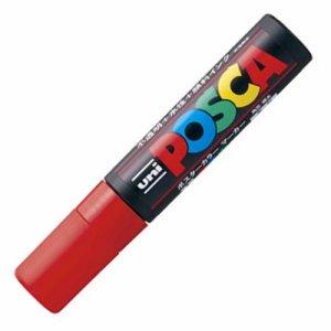 三菱鉛筆 PC17K.15 水性マーカー ポスカ 極太角芯 赤